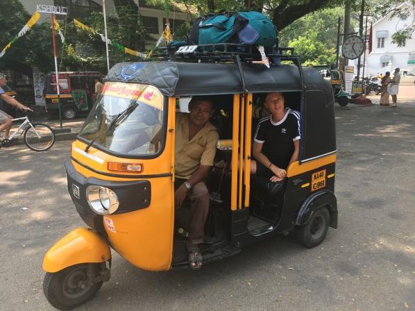 Gabs and tuk tuk driver