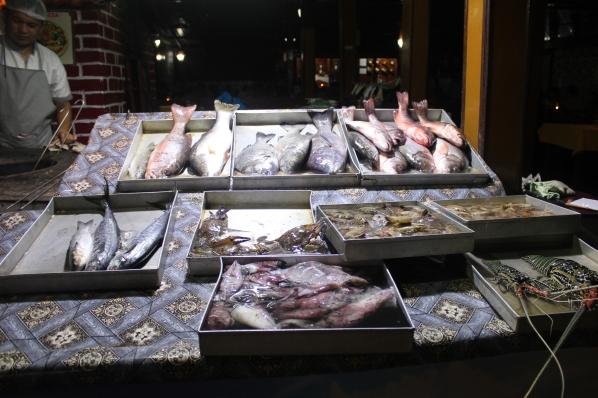 India fish stall