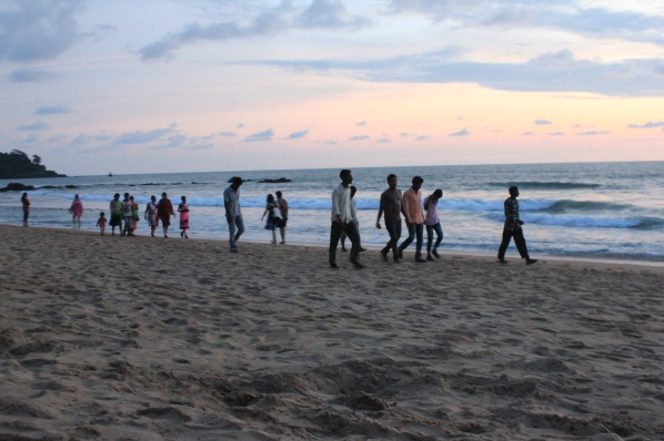 Patnem beach with people