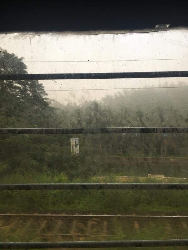 Through train window